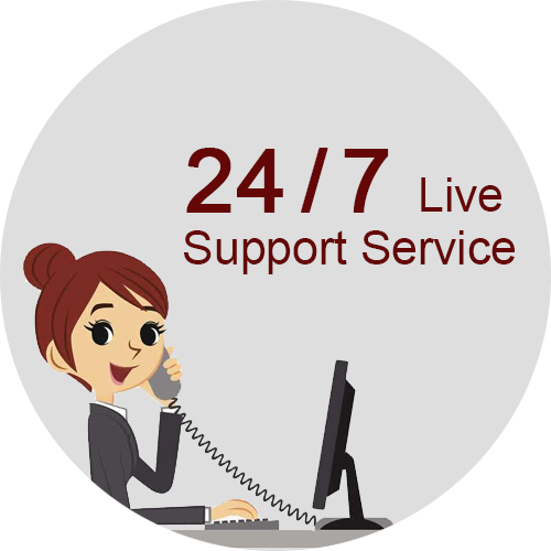 24/7 Live support Service